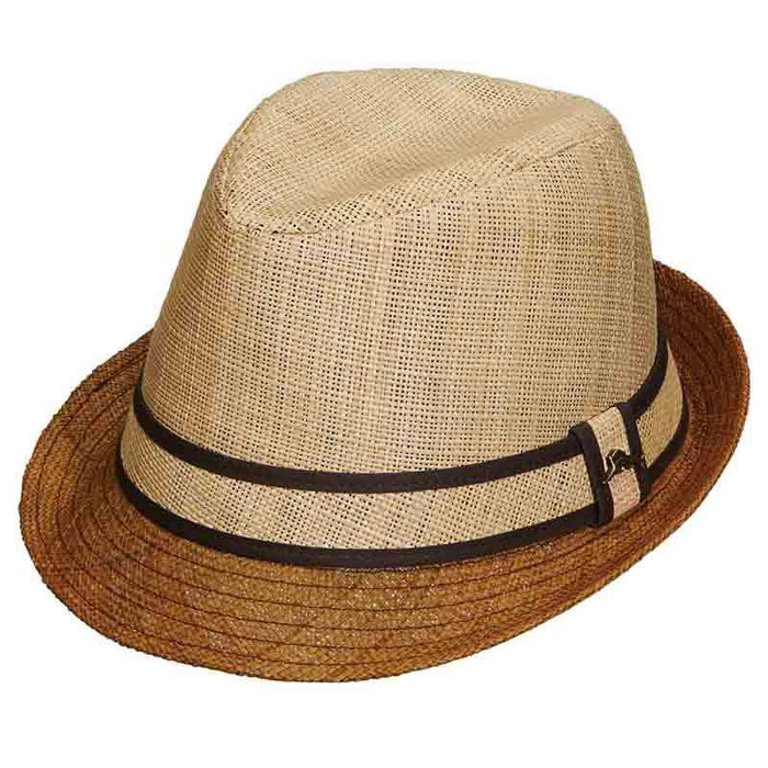 Matte Natural Trilby with Brown Brim - Tommy Bahama