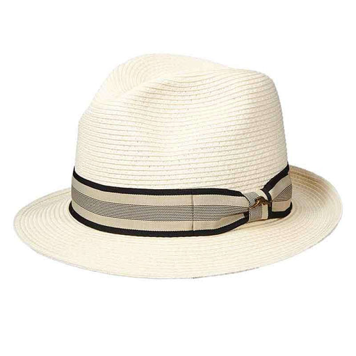Tommy Bahama Classic Ivory Fedora with TB Marlin Pin - SetarTrading Hats