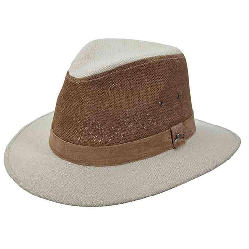 Tommy Bahama Perforated Crown Leather Safari Hat