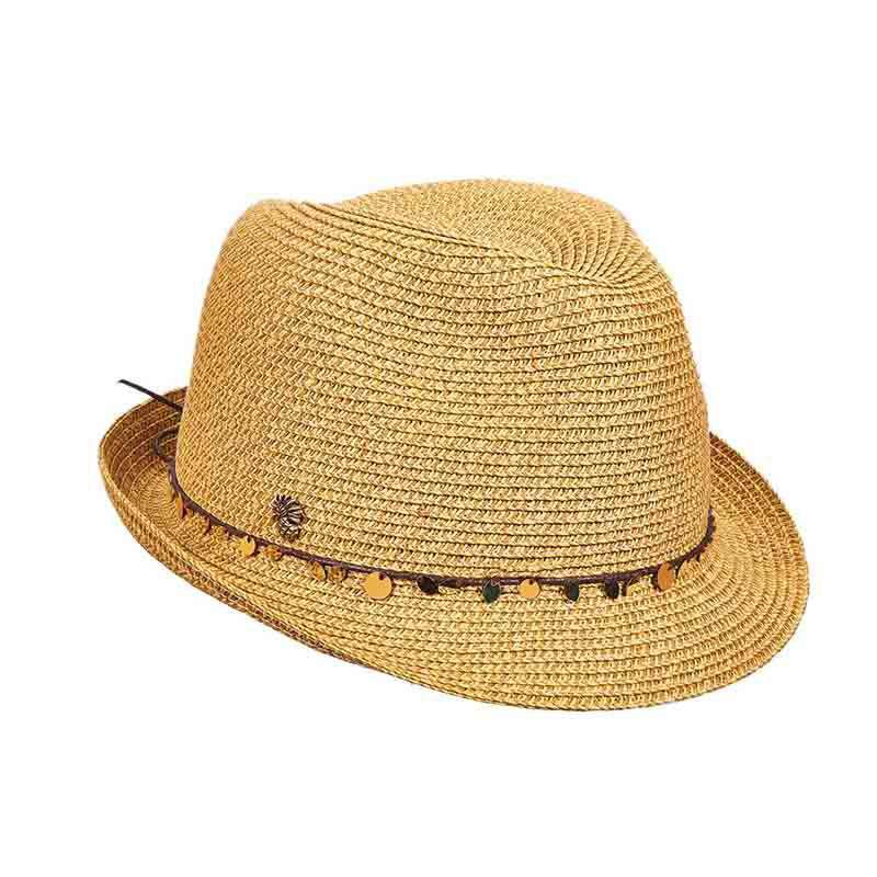 Tommy Bahama Gold Trinkets Trilby for Women