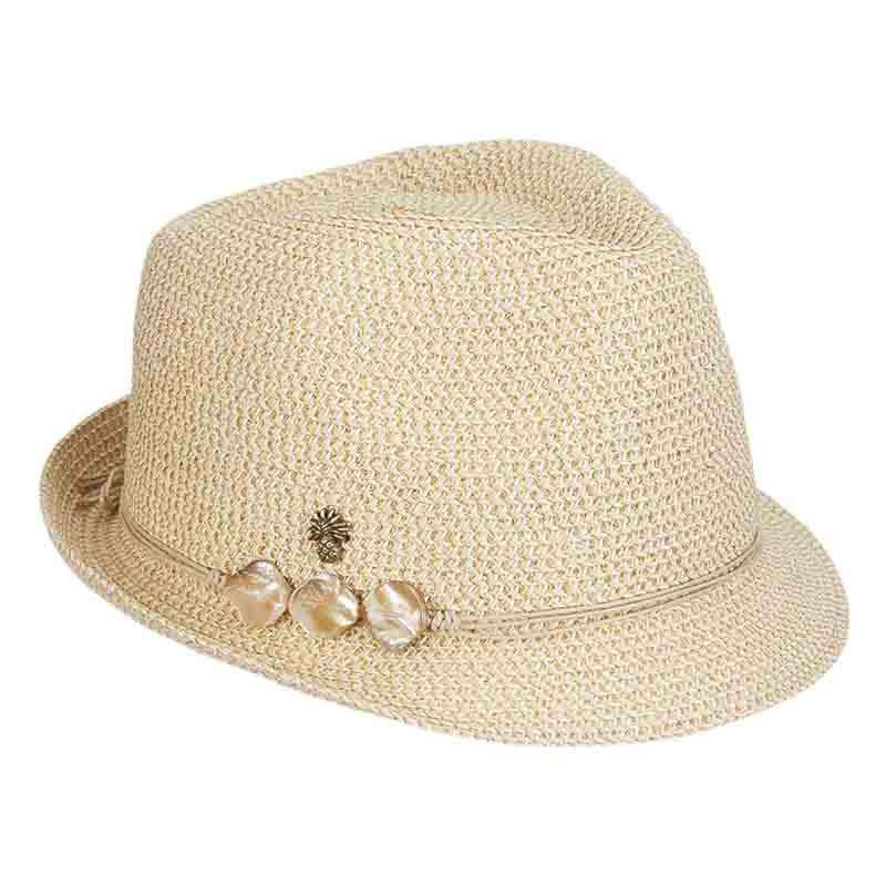 548fdc0ef4d Tommy Bahama Gold Trilby Fedora for Women