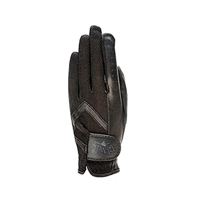 Black Golf Glove by GloveIt Ladies Left Hand Medium - SetarTrading Hats