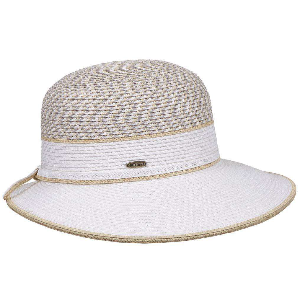 Narrowing Brim Two Tone Sun Hat - SetarTrading Hats