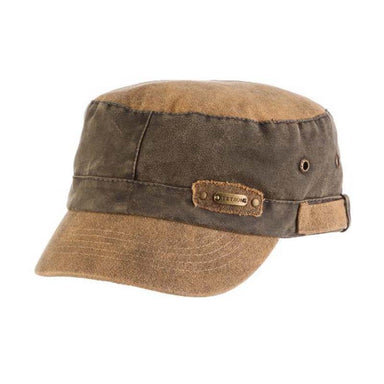 Tarp Cloth Cadet Cap with Plaid Lining - Stetson Hats