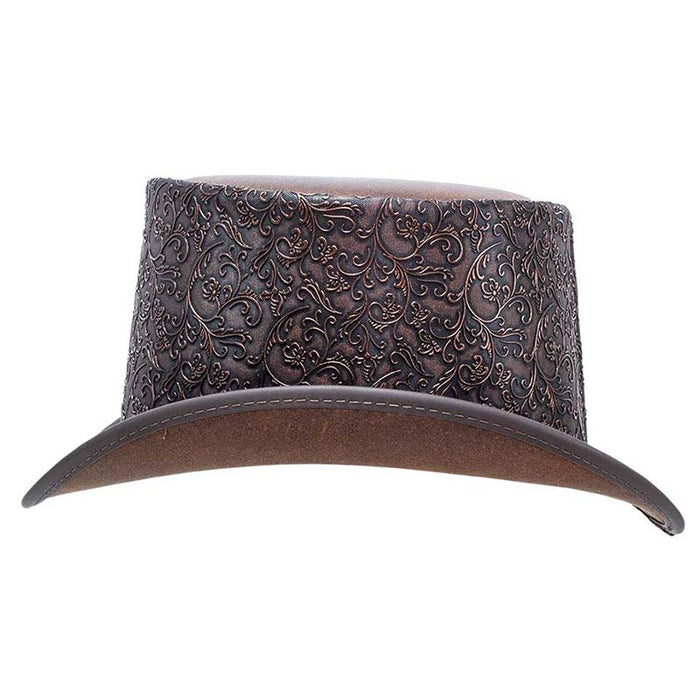 The Gent Leather Top Hat - Steampunk Hatter