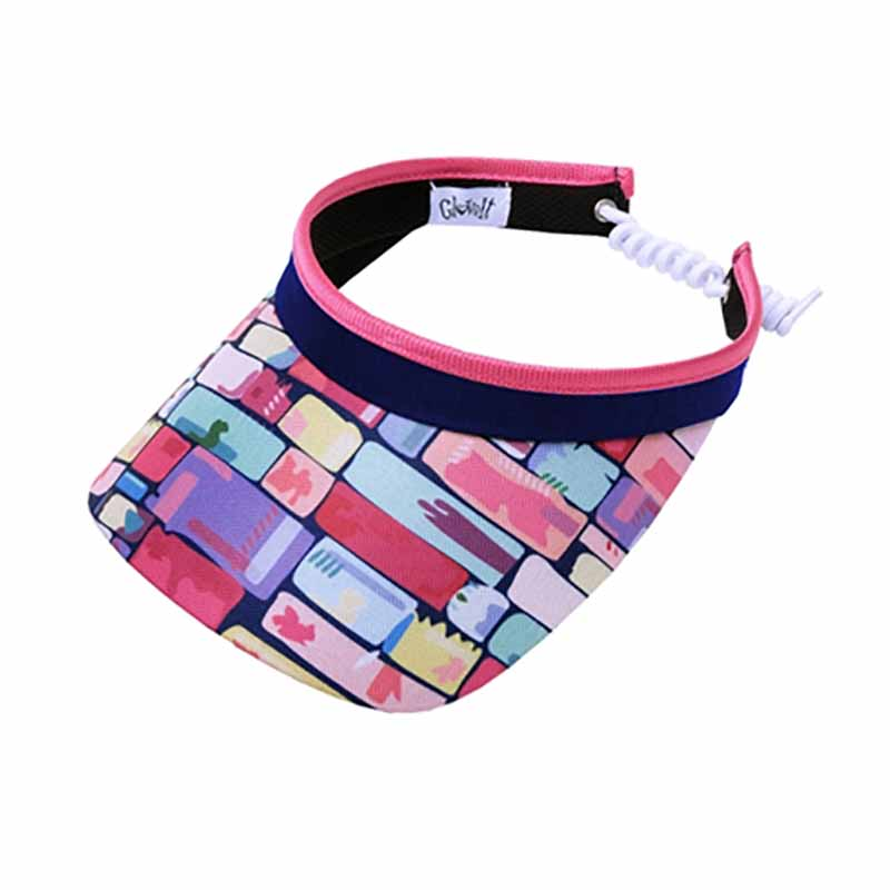 Tile Fusion Golf Sun Visor with Coil Lace by GloveIt