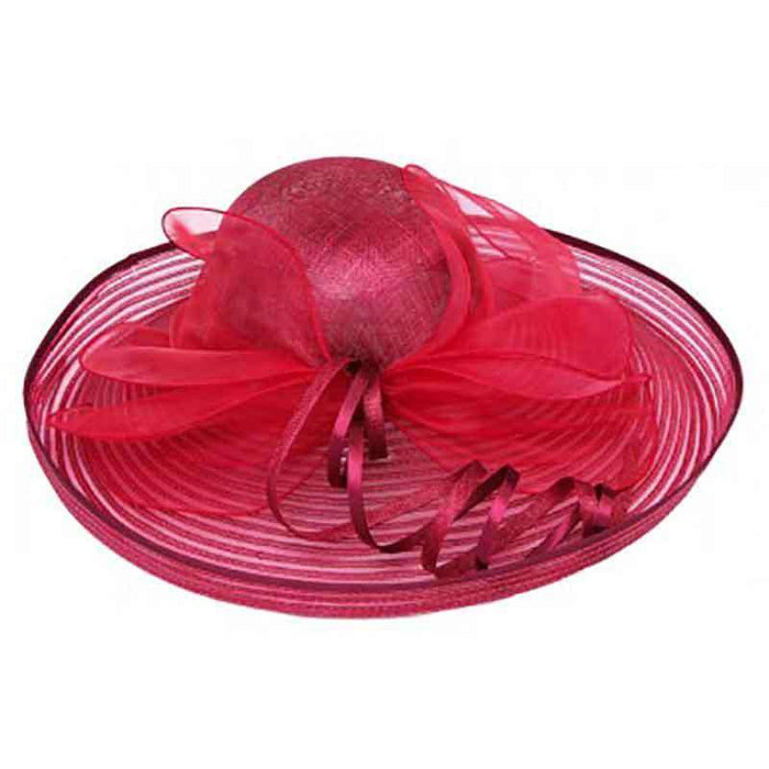 Sinamay and Crinoline Dress Hat with Satin Loop Accent