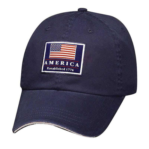 DPC Unstructured Twill Cap with USA Flag - SetarTrading Hats