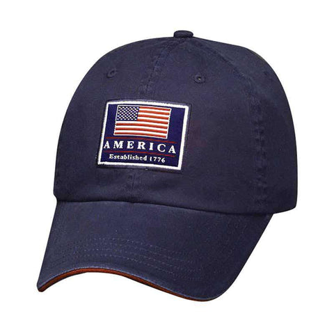 DPC Unstructured Twill Cap with USA Flag