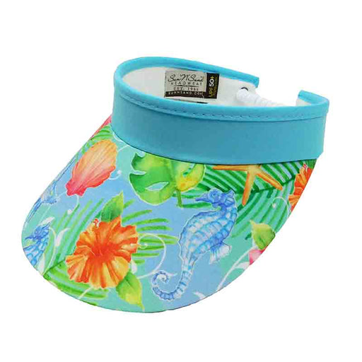 Under the Sea Cotton Sun Visor with Coil - Sun 'N' Sand®
