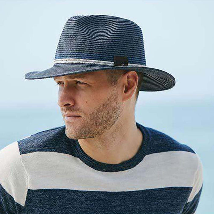Safari Hat with Two Tone Inline Band - Scala Collection Hats
