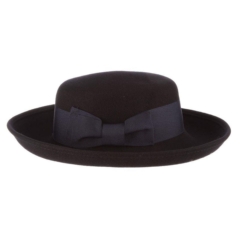 Up Turned Brim Wool Felt Hat - Scala Collezione Hats