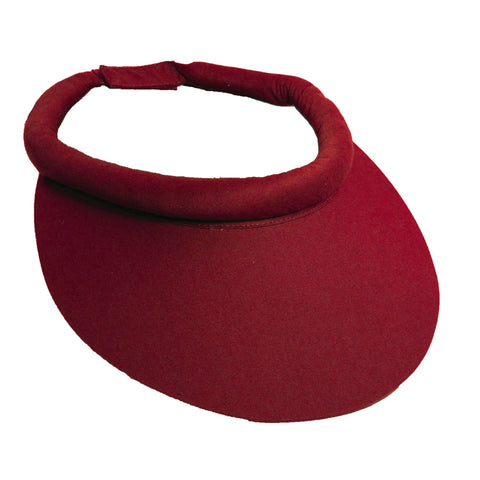 Wide Brim Cotton Sun Visor with Rolled Band by Tropical Trends