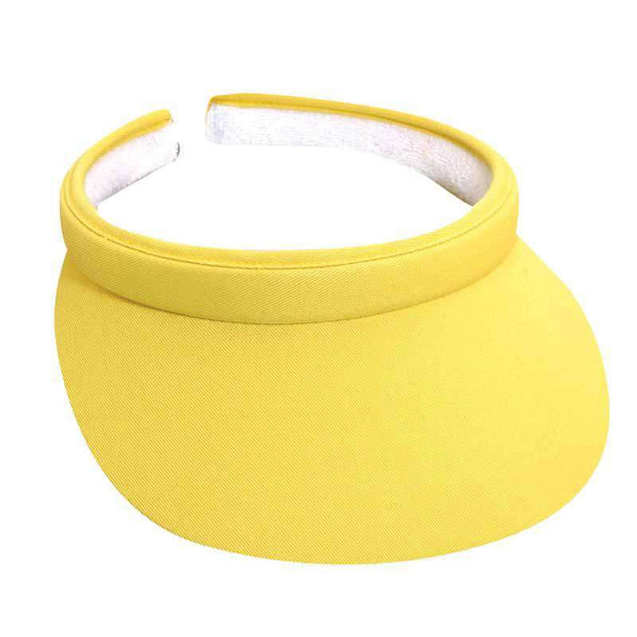 "Cotton Clip-On Sun Visor Bright Colors - Tropical Trends - 3"" Peak - SetarTrading Hats"