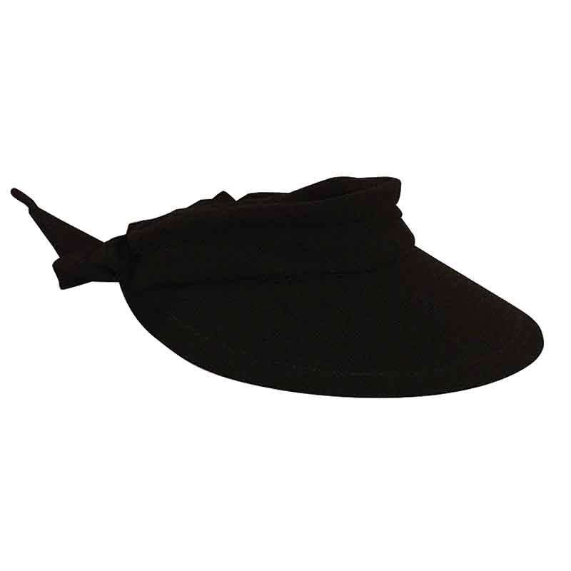 Large Round Linen Sun Visor with Bow - Scala - SetarTrading Hats