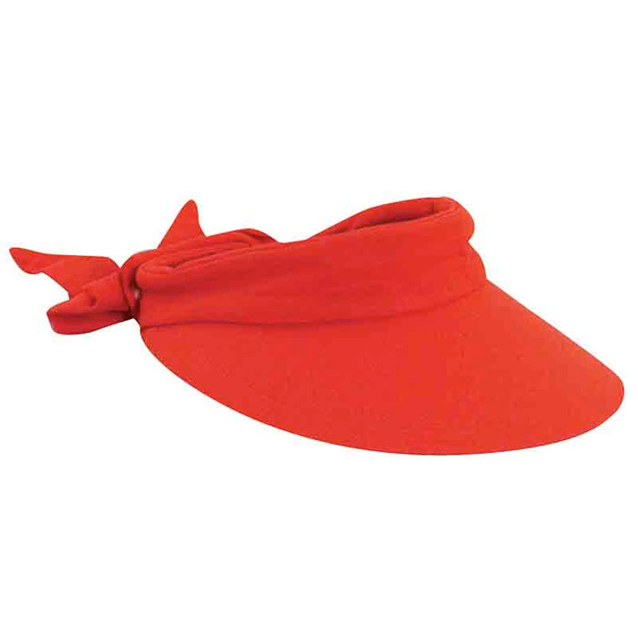 Large Round Linen Sun Visor with Bow - Scala