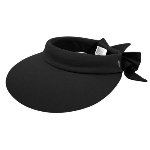 Wide Brim Cotton Sun Visor with Bow - Epoch Hats