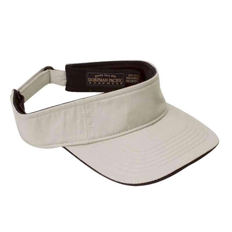 DPC Men's Twill Sun Visor with Piping