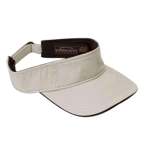 DPC Men's Twill Sun Visor with Piping - SetarTrading Hats
