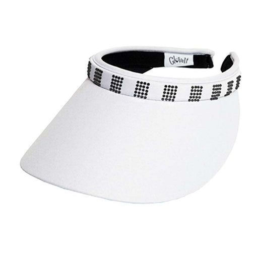 Clip On Square Crystal Bling Golf Sun Visor by GloveIt