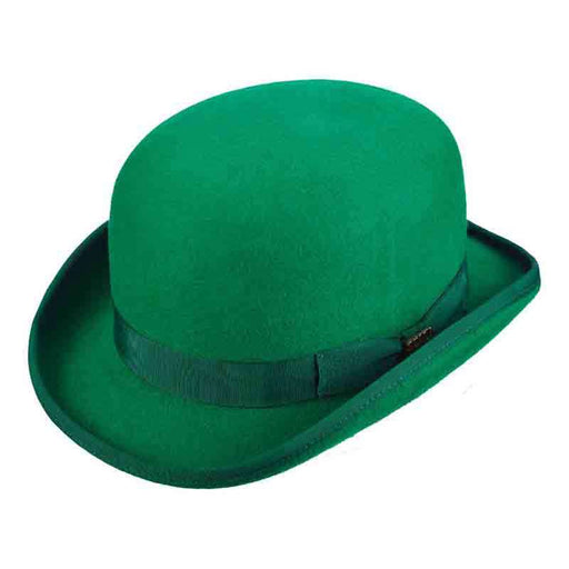Kelly Green Stiff Bowler Derby Hat by Scala