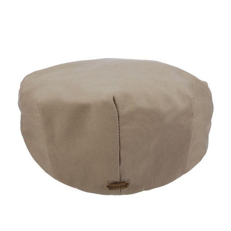 Water Repellent Cotton Blend Rain Flat Cap up to 2XL - Stetson Hat