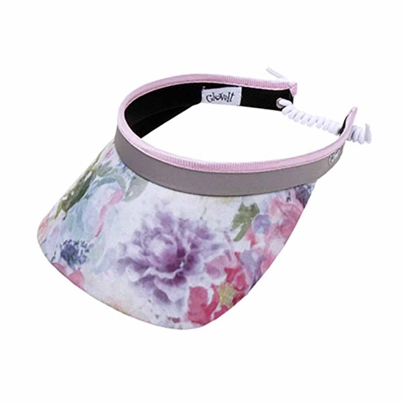 Watercolor Golf Sun Visor with Coil Lace by GloveIt