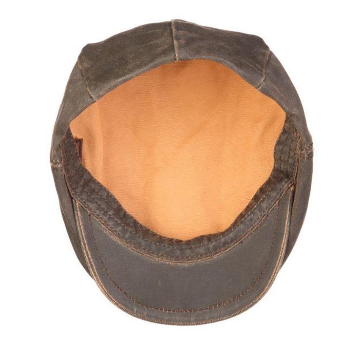 Weathered Cotton Flat Cabbie Cap - DPC Outdoor Hat