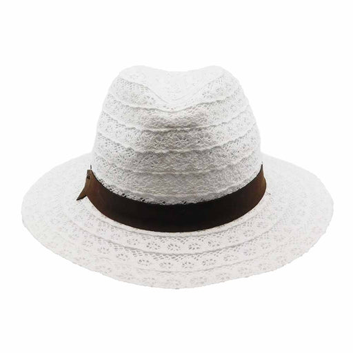 White Lace Panama Hat - Brooklyn Hat Co