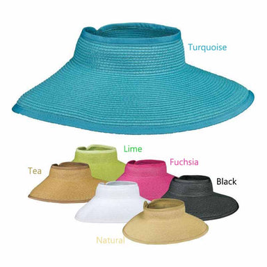 Wide Brim Roll-Up Sun Visor for Small Heads - DPC Hats