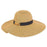 Folded Brim Beach Hat with Bamboo Accent - Sun'N'Sand®