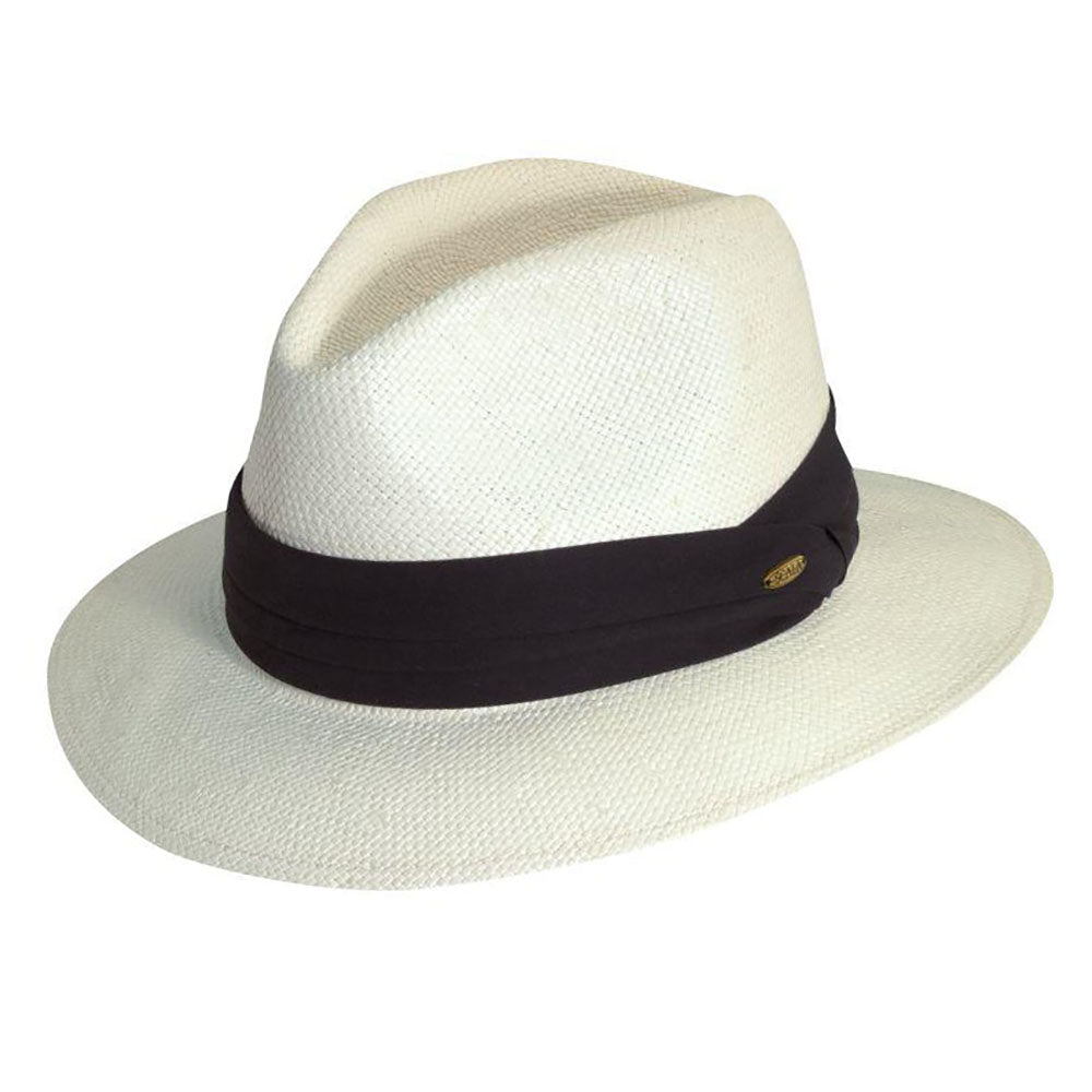 Woven White Toyo Panama Hat, up to 2XL - Scala Hats