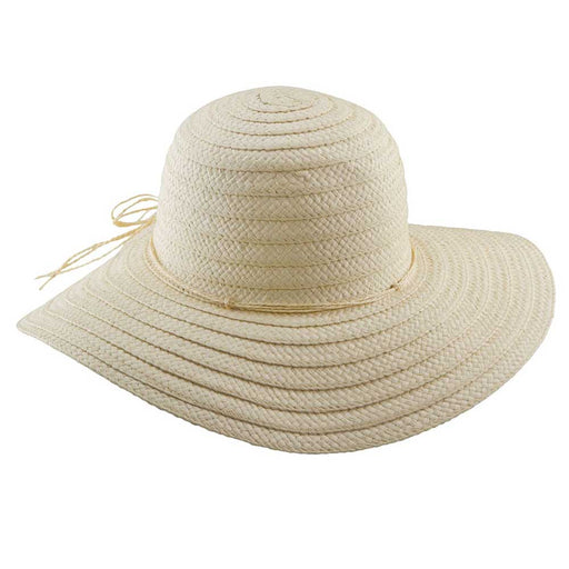 Classic Woven Toyo Straw Floppy Hat - Tropical Trends