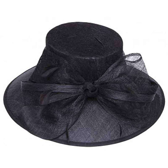 Sinamay Dress Hat with Lace Bow Accent by Something Special Hat