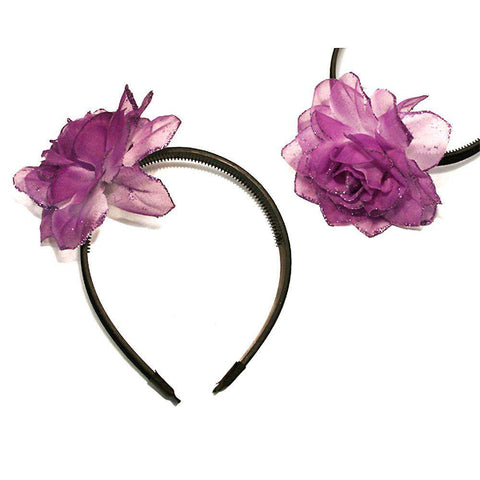 Glitter Flower Head Band