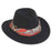 ad1009 adora hats black wool felt safari with red satin scarf trim