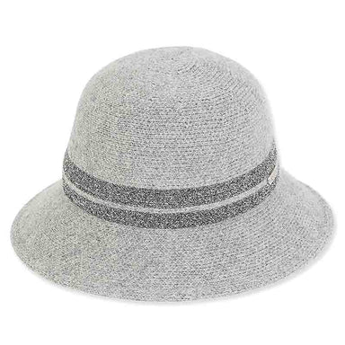 ad1057 adora hats soft wool bucket hat with silver lurex band
