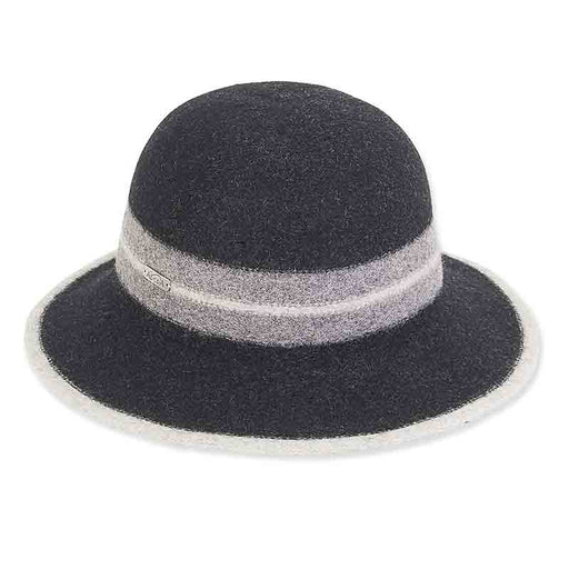 ad1059 adora hats soft wool bucket hat with contrast band edge