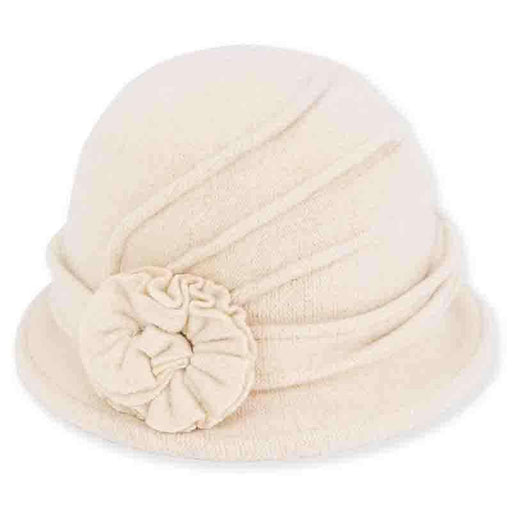 Trina  Boiled Wool Cloche Hat by Adora®