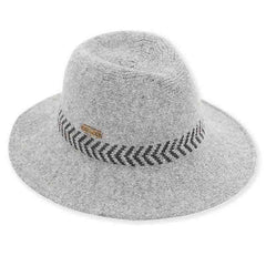 Maple Knit Wool Safari Hat by Adora® - Grey