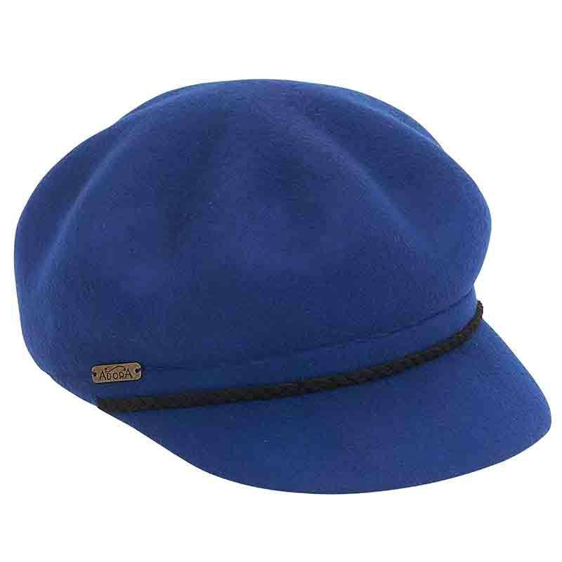 Wavy Wool Felt Newsboy Cap by Adora®