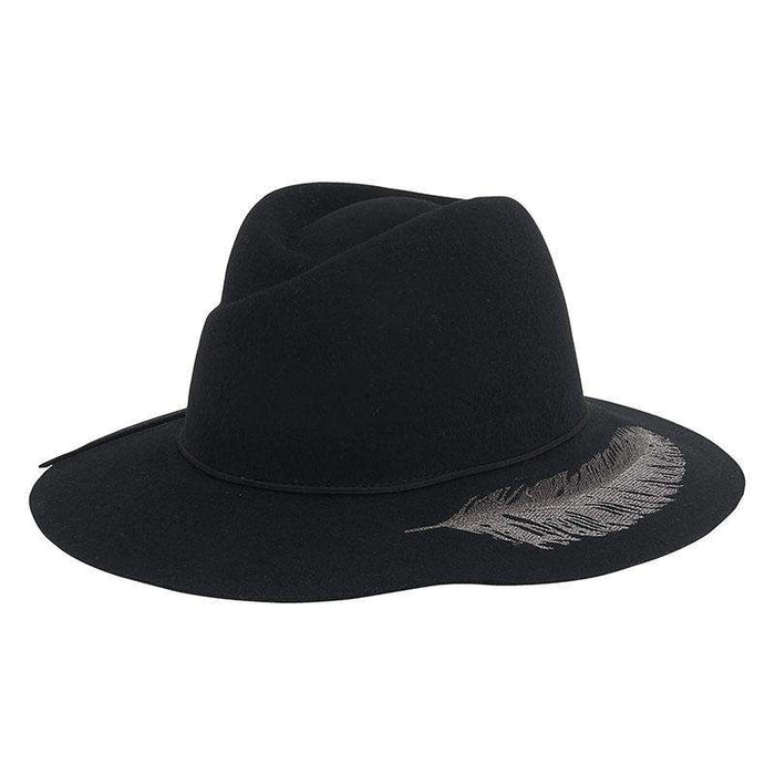 0846088a8a5dc8 Embroidered Leaf Floppy Safari Hat by Adora®- Women's Fall-Winter ...