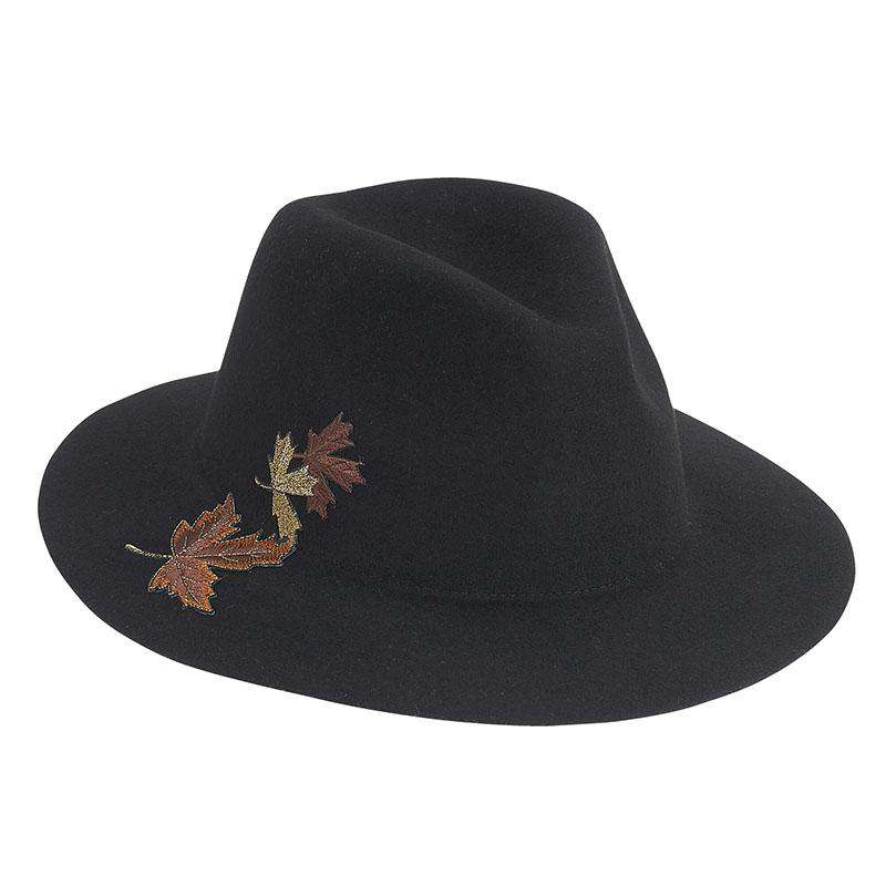 Fall Leaves Embroidered Floppy Safari Hat by Adora® - SetarTrading Hats