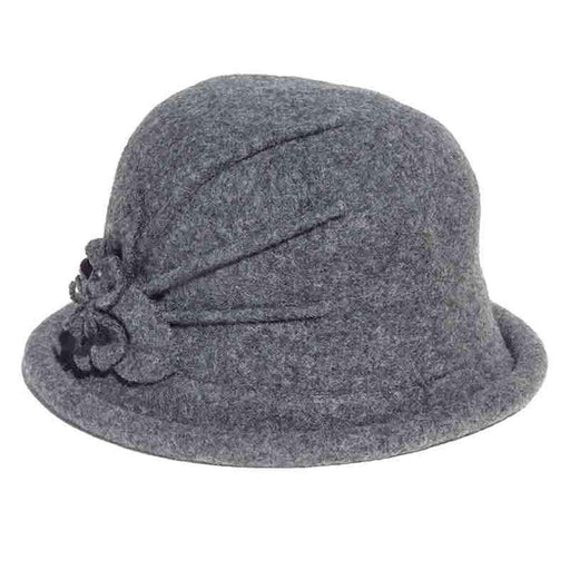 Curled Brim Wool Bowler Hat by Adora® - SetarTrading Hats