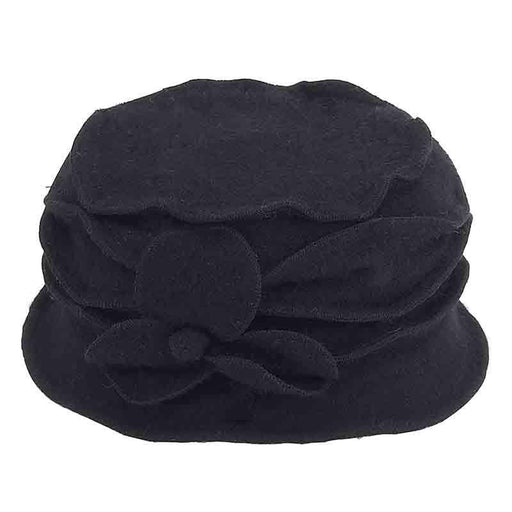 Boiled Wool Criss Cross Pleated Beanie Cap by Adora® - SetarTrading Hats