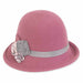 ad973c adora hats rose wool felt close with grey ribbon band