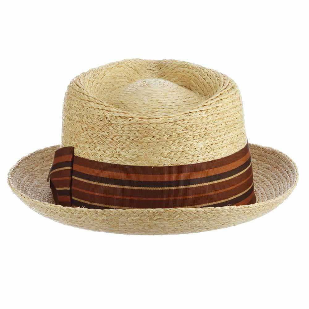 Alessandro Braided Raffia Fedora - Brooklyn Hat Co