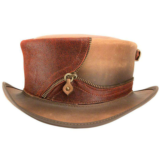 Eureka Leather Steampunk Top Hat - Red - SetarTrading Hats
