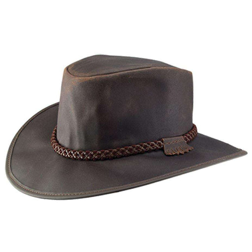 Crusher Leather Outback - Brown - SetarTrading Hats
