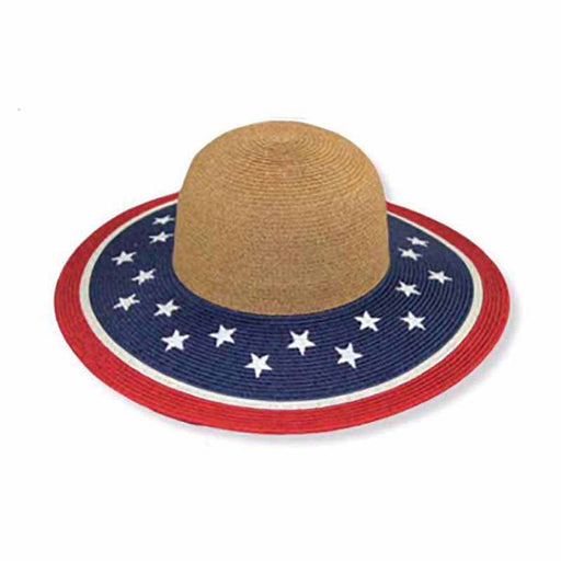 Small Heads American Flag Sun Hat - Jeanne Simmons Hats